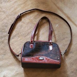 American west cowhide western purse bag
